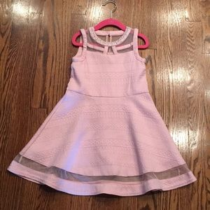 Girls Childrens Place Pale Pink and Beaded Dress